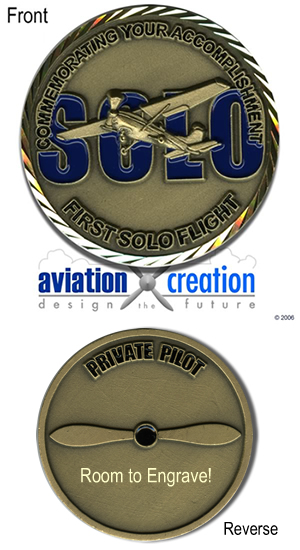 First Solo Flight Challenge Coin